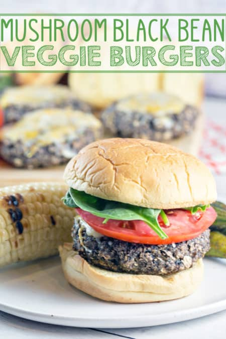 Mushroom Black Bean Burgers: Looking for the perfect veggie burger? Look no further than these gluten free mushroom black bean burgers.  Sturdy enough to grill, but just as delicious cooked in a skillet. {Bunsen Burner Bakery} #burgers #veggieburgers #glutenfree #grilling