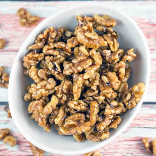 Maple Glazed Walnuts Recipe | Bunsen Burner Bakery