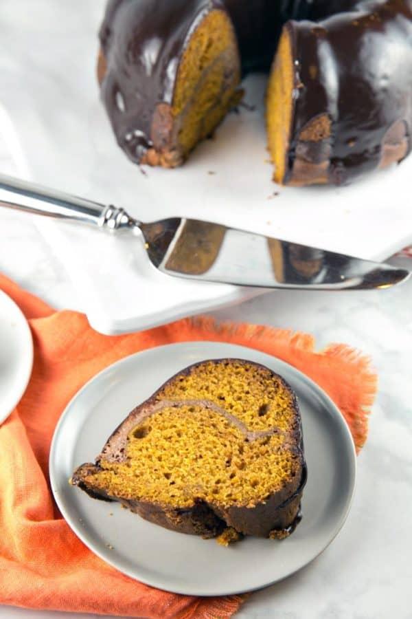 Cheese Cake Chocolate Swirl Bundt Cake