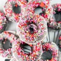 Baked Peppermint Mocha Donuts