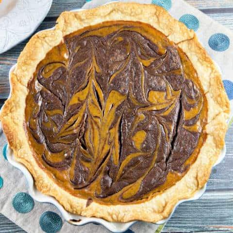 Nutella Swirled Pumpkin Pie