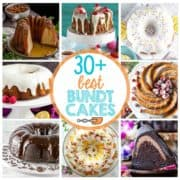 30+ Best Bundt Cakes plus top tips for baking your best bundt ever! {Bunsen Burner Bakery} #bundtcake #bakingtips