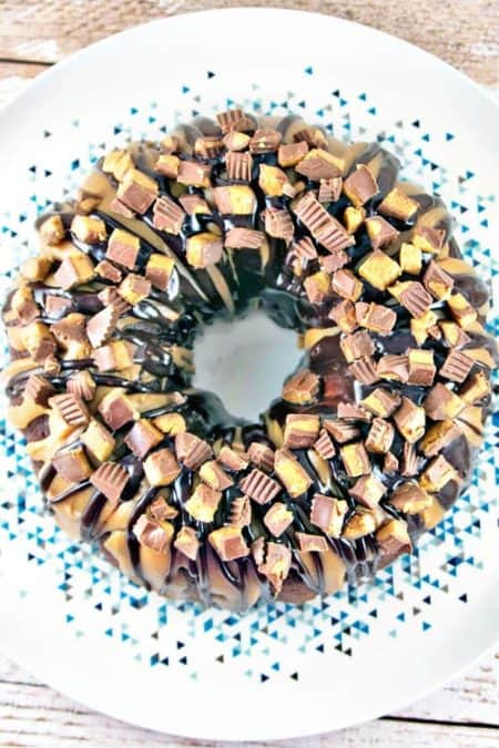 50 Best Bundts: chocolate peanut butter cup bundt cake
