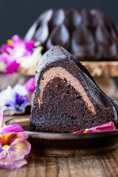 50 Best Bundts: chocolate cheesecake stuffed bundt cake