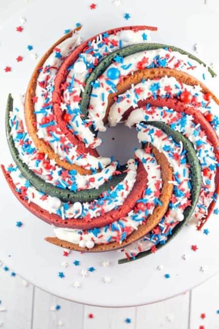 50 Best Bundts: Patriotic Spiral Bundt Cake