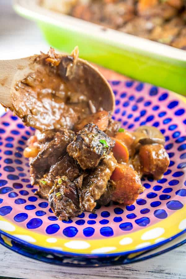 Easy Instant Pot Beef Stew: all the taste of all-day beef stew, ready in under an hour with your Instant Pot or pressure cooker. The perfect winter comfort food! {Bunsen Burner Bakery} #instantpot #beefstew #glutenfree #pressurecooker