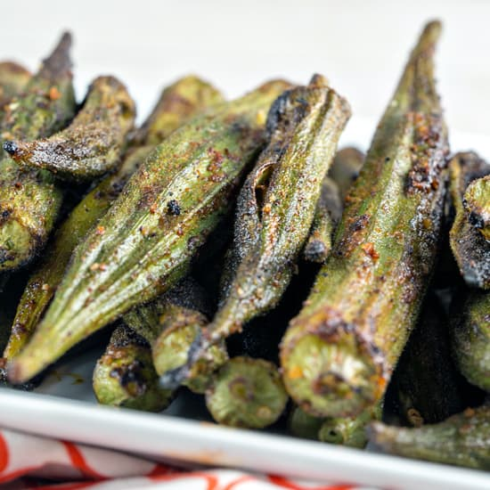 Spicy Grilled Okra Bunsen Burner Bakery