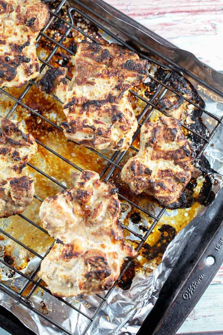 grilled chicken on a cooling rack