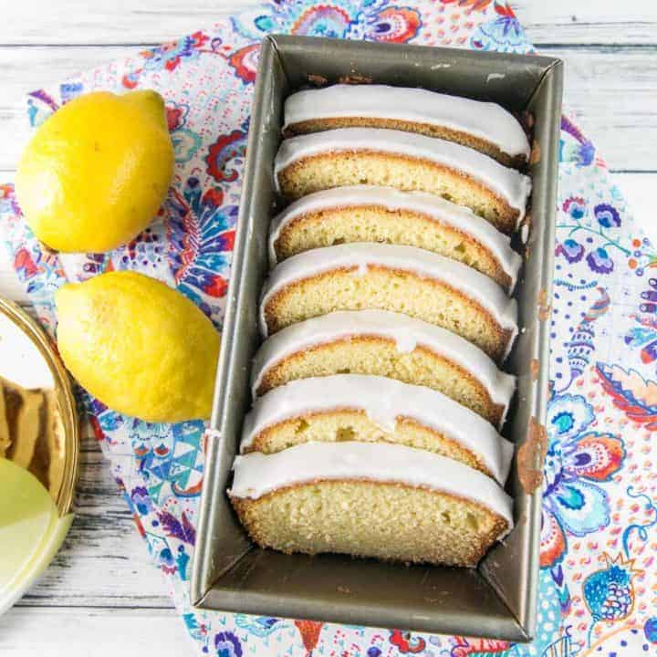 Glazed Lemon Pound Cake: a rich, tender, buttery pound cake packed full of real lemon flavor, covered in a lemon glaze. #bunsenburnerbakery #poundcake #lemon #lemonloaf