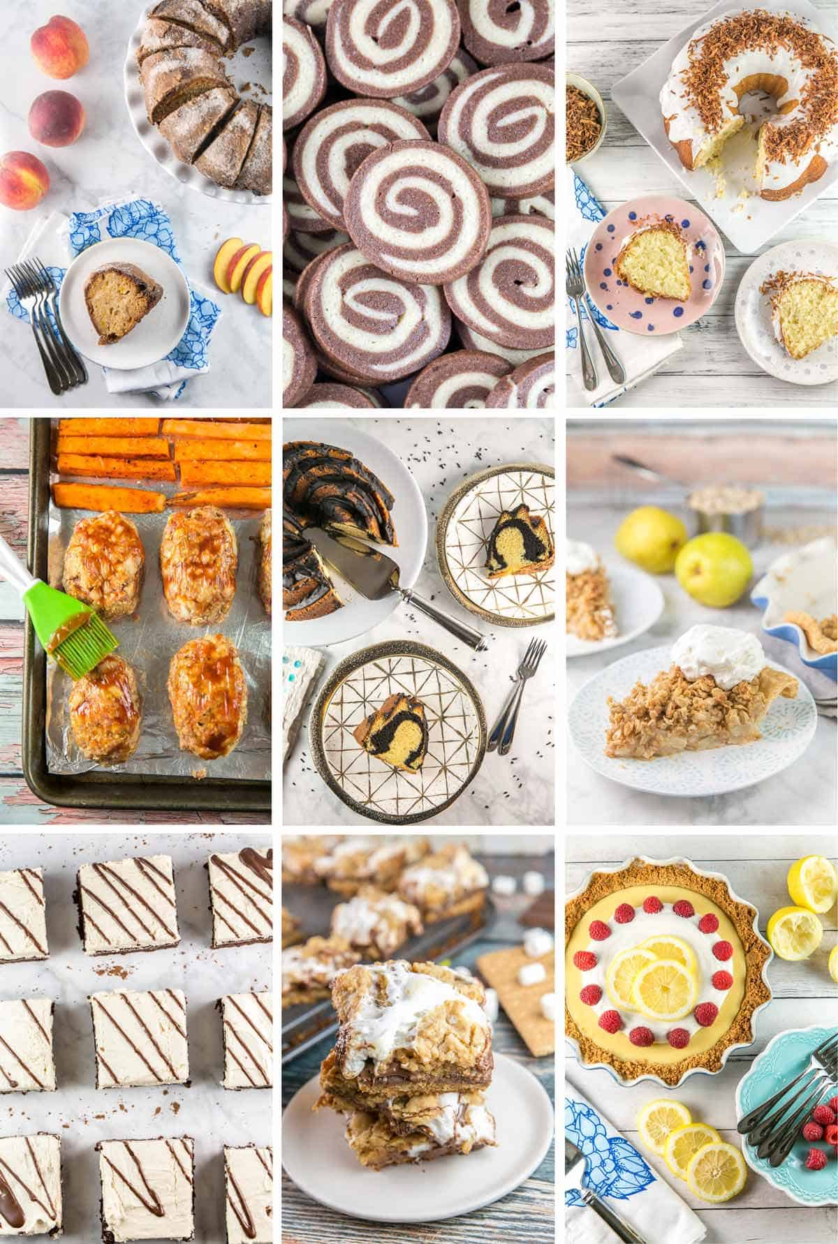 a photo collage of my 9 favorite recipes on bunsen burner bakery