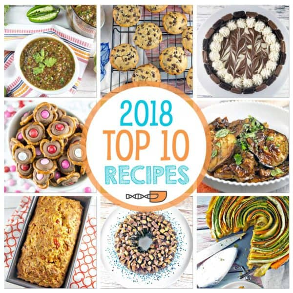 collage showcase the top recipes on Bunsen Burner Bakery in 2018