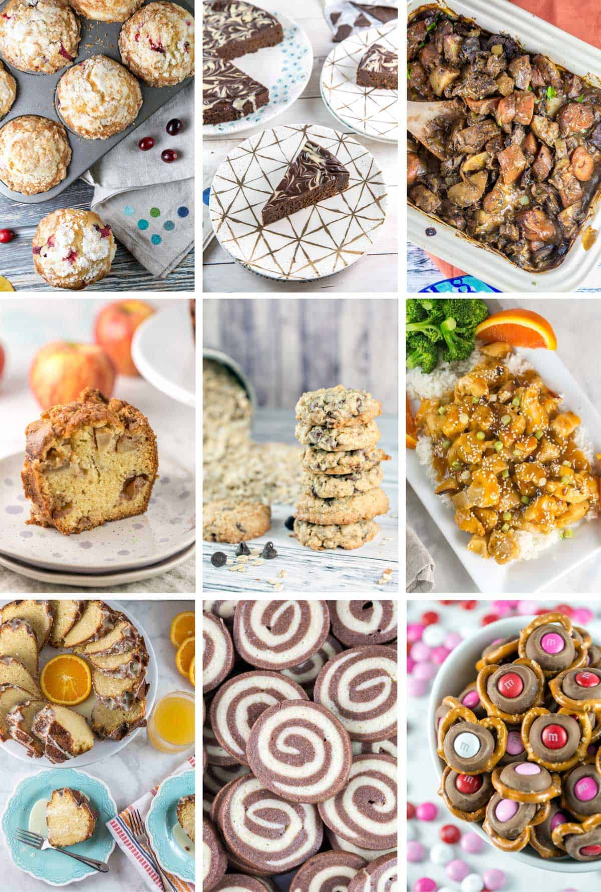 collage of the 9 most popular new recipes on bunsen burner bakery in 2018