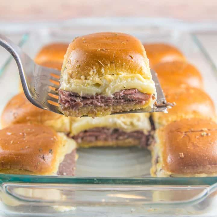 Baked Roast Beef Sliders