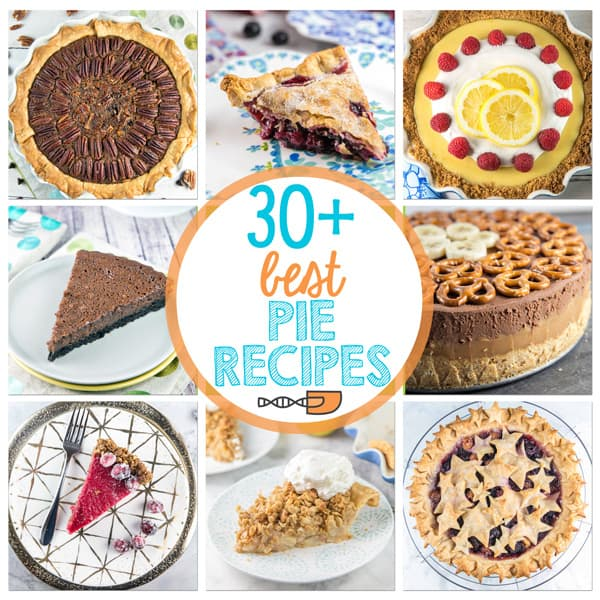 A collection of the best pie recipes: savory and sweet, fruit, chocolate, and custard, baked and no baked - something for everyone!