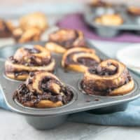 Cinnamon Chocolate Babka Muffins