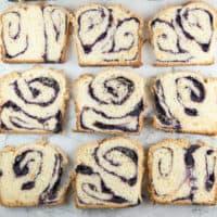 Blueberry Babka with Almond Streusel