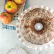 Apple Cider Donut Cake: Soft, tender, and moist, this apple cider donut cake is easy and simple to make with a secret trick to impart extra apple cider flavor!  It's like a supersized version of everyone's favorite fall donut treat! #bunsenburnerbakery #cake #applecake #appleciderdonut #bundtcake