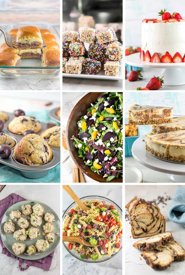 a collage showing the 9 most popular new recipes posted in 2019 on bunsen burner bakery
