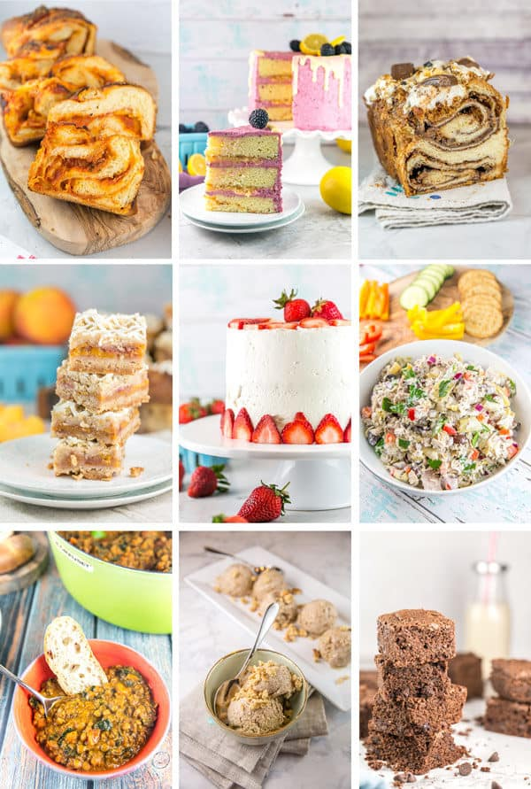 a collage of my personal favorite new recipes shared on bunsen burner bakery in 2019