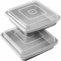 Wilton Non-Stick 9-Inch Square Baking Pan with Lid