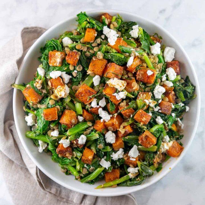 Spicy Butternut Squash Salad