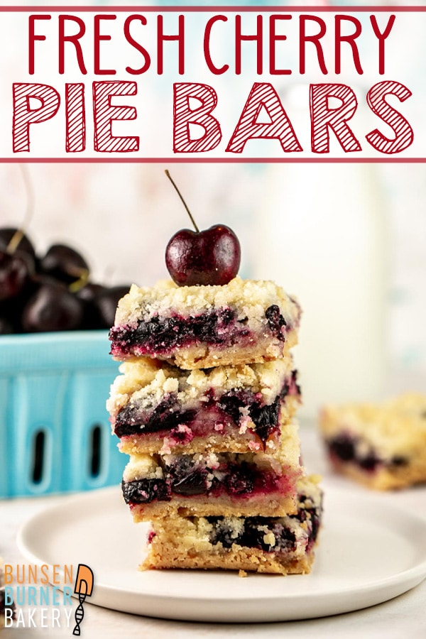 Cherry Pie Bars: Made with fresh or frozen cherries, these easy cherry pie crumble bars are perfect for a crowd!