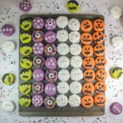 Chocolate Covered Halloween Oreos: These super easy, no bake treats are perfect for parties or treat bags! Kids love to help decorate them - and eat them, too!